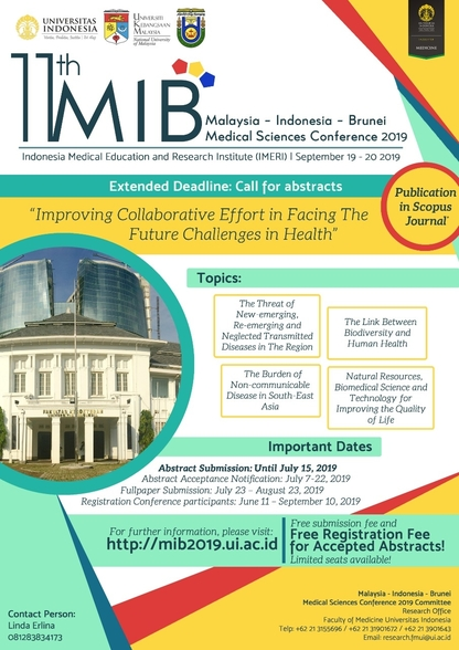 The 11th Malaysia Indonesia Brunei Medical Science Conference 2019